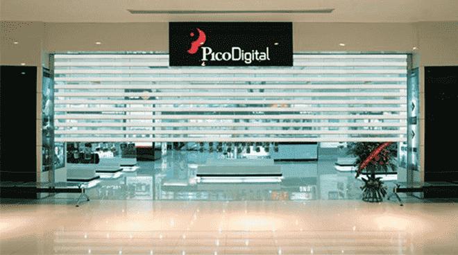 Cửa cuốn trong suốt được sử dụng nhiều trong các gian hàng tại trung tâm thương mại